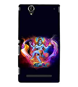 printtech Lord God Shiva Om Back Case Cover for Sony Xperia T2 Ultra::Sony Xperia T2 Ultra Dual