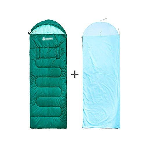 WYJW Schlafsack - 210 Ripstop-Plaid-Stoff, Verdickung für Erwachsene, Abnehmbarer, Abnehmbarer Galle-Camping-Warmer, tragbarer Spleiß-Schlafsack, geeignet für: Mittagspause drinnen, Aktivitäten i -