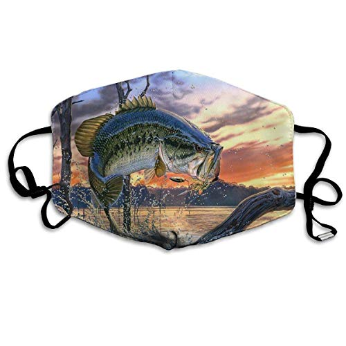 Erwachsene, Face Mask Reusable, Warm Windproof Fishing Bass Mouth Mask - Filters Dust, Pollen,Allergens, Cold & Flu Germs - Allergy Mask - Ideal for Airplane Travel; Antimicrobial ()
