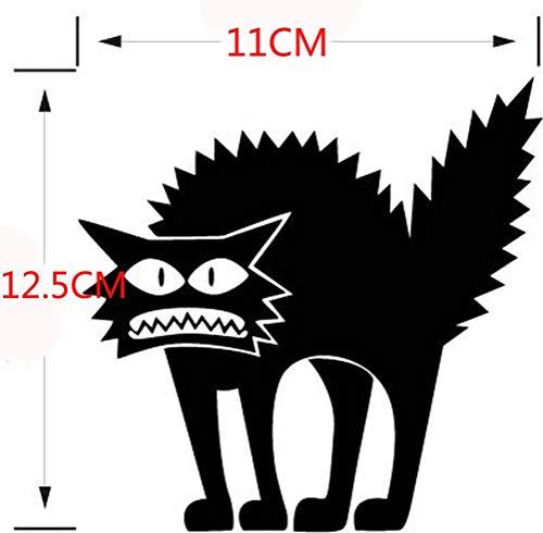 (MRULIC Abnehmbare 3D Wandaufkleber Halloween schwarze Katze Dekor Decals für Wände Aufkleber)