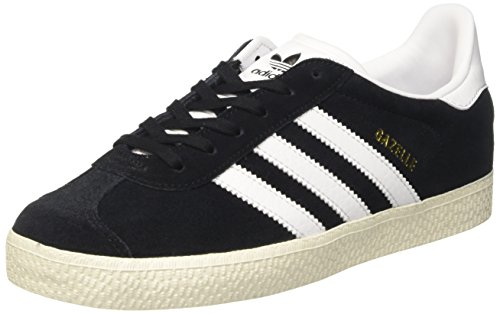 adidas Unisex-Kinder Gazelle Sneakers Schwarz (Core Black/footwear White/gold Metallic)