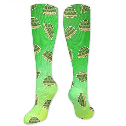 ouyjian Tortoise Shell Pattern Knee High Socks Cotton Long Knee-high Stockings(50 Full Print)