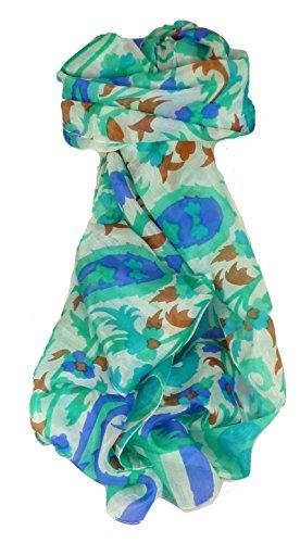 Contemporary Maulbeereseide Langer Tuch Mooli Emerald von Pashmina & Silk (Seidenpapier Mulberry)