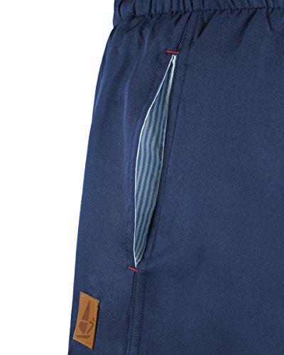 WINDSTÄRKE 7 Herren Badeshorts viele verschiedene Farben und große Größen mit Kordel und Leder-Patch Navy Blau