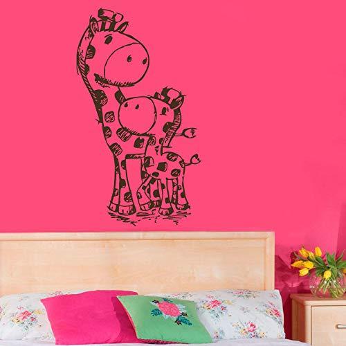 Two Giraffes Mom And Baby Wall Sticker Cartoon Animals Home Decor Kids Nursery Baby Room Decor Art Murals Decora86cmx43cm Decora Jack