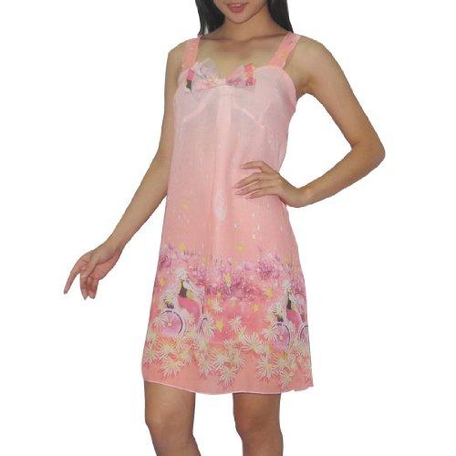Eterno Damen Sexy Seide Wunderschšne NachtwŠsche Kleid / Nachthemd - Mehrfarbig Mehrfarbig