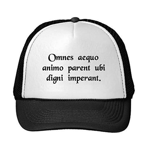 Imagen de funny all men cheerfully obey where worthy men rule. trucker hat