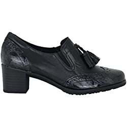 Zapato de piel de tacón de PITILLOS modelo 1246 (Negro)