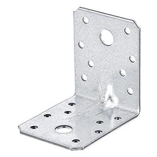 GAH-Alberts Schwerlast-Winkelverbinder mit Sicke, Handwerkerpack, sendzimirverzinkt, 70 x 70 x 55 mm / 50 Stück