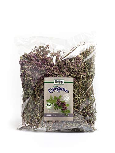 Biojoy Mountain Oregano of Organic Premium Quality | fully dried flowers and stems | without admixtures or additives | full aroma | a spice and a traditional herbal tea | Origanum vulgare (250 g)