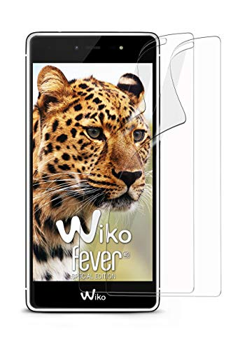 moex 2X Wiko Fever SE | Schutzfolie Klar Bildschirm Schutz [Crystal-Clear] Screen Protector Display Handy-Folie Dünn Bildschirmschutz-Folie für Wiko Fever Special Edition Bildschirmfolie