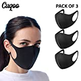 CUQOO 3x Anti Dust Mask Face Mouth Mask, Fashion Reusable Washable Outdoor Unisex Mask, Anti-Pollution Facemask