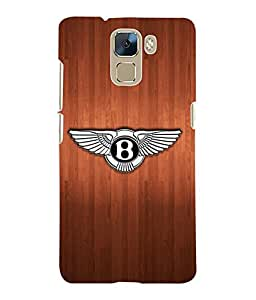 Fuson 3D Printed Bentley Car Logo Designer Back Case Cover for Huawei Honor 7 - D812