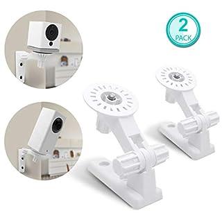 Wandhalterung für wyze Cam Pfanne & wyze Cam, allicaver Verstellbar Indoor Outdoor Halterung für wyze Cam V2und wyze Cam Pan 1080P HD Kamera (2Stück, Weiß) Weiß