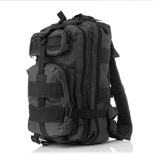 Homdsim 25l-30l Army molle 3Day Pack 3P assalto tattico militare campeggio zaino per uomo donna borsone da viaggio borsa da palestra, Desert Camouflage Black