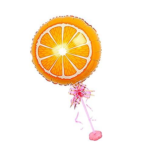 D DOLITY Obst Folie Ballon Kit mit Stick Standfuß Hochzeit Party Dekor - Orange, 18 Zoll