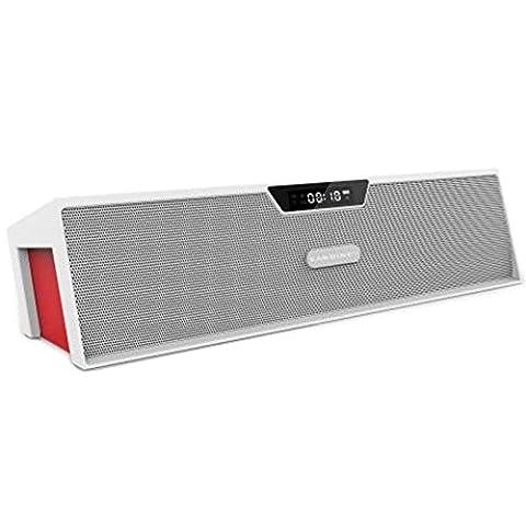 koiiko original Sardine Hi-Fi Son stéréo sans fil Bluetooth V3.0Portable haut-parleur Box Afficher, écran LCD Temps + Réveil + Radio FM + Câble de Charge Statut, automatiquement H-Turbine pour téléphone portable iPhone iPad Noir
