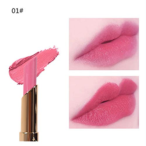 Soft Sensation Color & Care Lippenstift, feuchtigkeitsspendend,Kosmetik Matte und Kürbis Farbe Bohnenpaste Lip Gloss Lipstick Long Last By Vovotrade