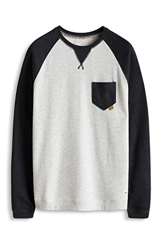 edc by ESPRIT Herren Sweatshirt Grau (LIGHT GREY 040)