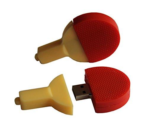 Tomax Tischtennis Schläger Tischtennisschläger rot als USB Stick mit 8 GB USB Speicherstick Flash Drive