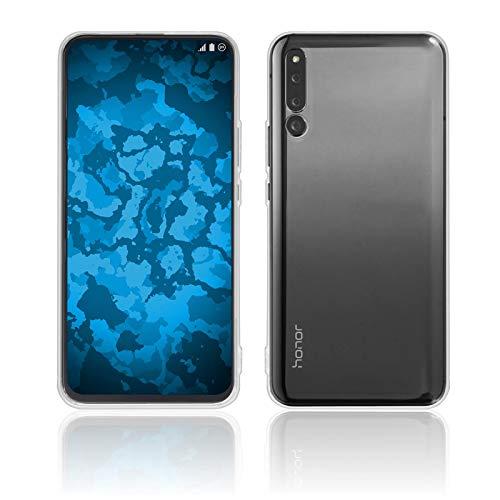PhoneNatic Case für Huawei Honor Magic 2 Hülle Silikon Crystal Clear, transparent + 2 Schutzfolien