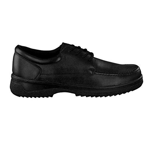 HSM , Chaussures de ville à lacets pour homme noir Schwarz Schwarz
