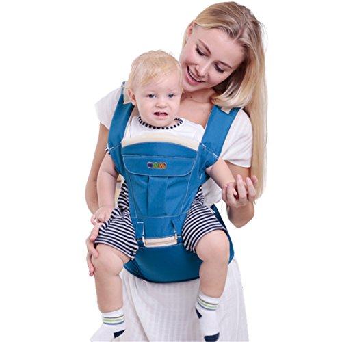 Chilsuessy 3 in 1 Baby und Kindertrage, Tragetasche Baby Die Leichte Bauch und H¨¹fttrage, Blau