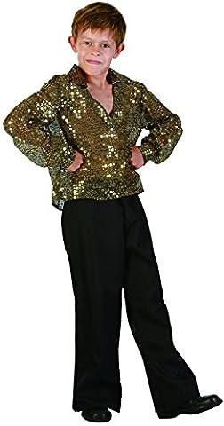 Déguisement disco garçon paillettes or 7 à 9 ans