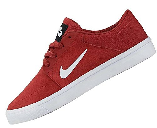 Nike Sb Portmore (g), Scarpe Da Skateboard Uomo Rojo (rojo (cayenne Foncé / Blanc-noir))