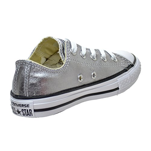 Converse Kids Chuck Taylor All Star Ox Canvas Trainers Metallic Gunmetal/White/Black