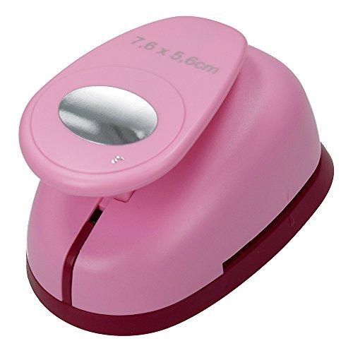 efco Stanzer 3XL, Oval Motivstanzer, Kern: Metall, pink, 15 x 10,5 x 9 cm -