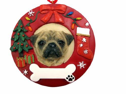 E & S Pets Mops Personalisierte Weihnachten Ornament -