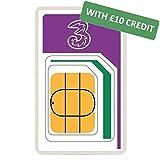 Drei mobile, internationale Prepaid-SIM-Karten mit £10Guthaben
