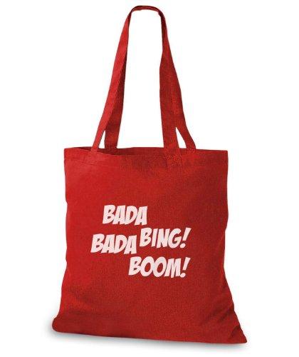 StyloBags Jutebeutel / Tasche Bada Bing Bada Boom! Rot
