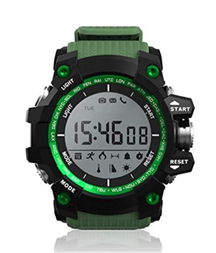ELEGENCE-Z Intelligente Uhr, Eingebautes GPS mit Pulsmesser Wasserdichte Digitale Sportuhr Fitness Tracker für Outdoor-Sport Schwarz