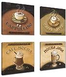 Visario quadri moderni Set su tela motivo  Caffè 6903