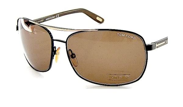 cbe290166a4 New Tom Ford Sunglasses John TF 34 TF34 B5 Brown Frame Brown Shades Size   63-14-130  Amazon.co.uk  Clothing