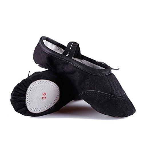 adulta Nero ballo scarpe danza pratica zampa scarpe scarpe Scarpe yoga pancia fondo da Wxmddn Morbido gatto danza balletto w1TZE6