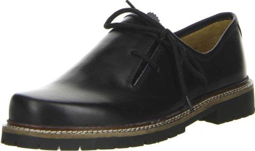 Vista Damen Herren Haferlschuhe Trachtenschuhe Echtleder schwarz, Größe:46, Farbe:Schwarz