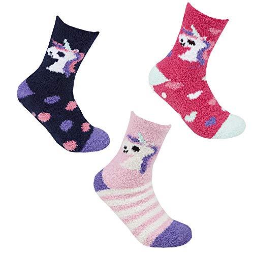 Forever Dream Calcetines de unicornio para mujer, 3 unidades