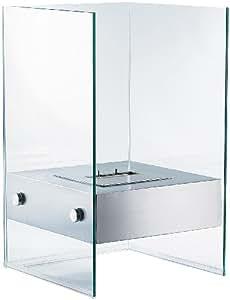 carlo milano bio ethanol deko feuer im glasw rfel look k che haushalt. Black Bedroom Furniture Sets. Home Design Ideas