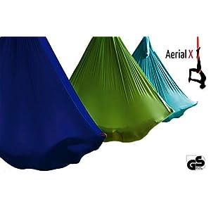AerialX Aerial Yoga Fitness Tuch Set – GS geprüfte Sicherheit aus Deutschland – viele Farben & Varianten – Decken Anker