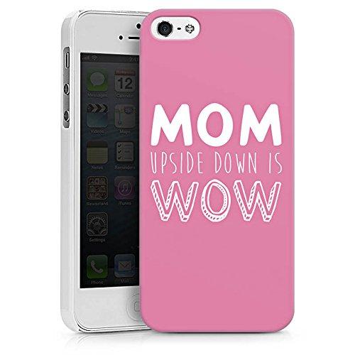 Apple iPhone X Silikon Hülle Case Schutzhülle Mom liebe spruch Hard Case weiß