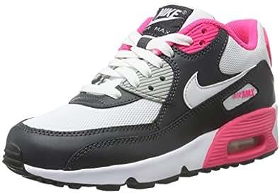 Nike Mädchen Air Max 90 Mesh (GS) Turnschuhe, Black