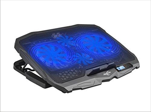 Laptop Kühler, Aigoune 4 Lüftern, 2 USB Port, 5 Verstellbarer Winkel, Temperaturanzeige ,Geeignet Für Laptop 17 Zoll und Unter Kühlkörper