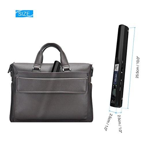 AOZBZ Portable Document Scanner Dokumentenscanner, 900DPI Mobile USB Handscanner A4 Farb Photo Scanner Handy Scan (JPG/PDF-Format, Hochgeschwindigkeits-USB 2,0,Brauchen Micro SD/TF Card aber Nicht Inbegriffen) - 5