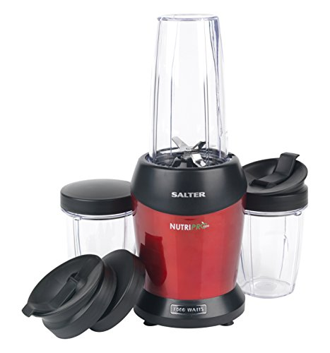 Salter EK2002 NutriPro Super Charged Multi-Purpose Nutrient Extractor Blender, 1 Litre, 1000 W, Red