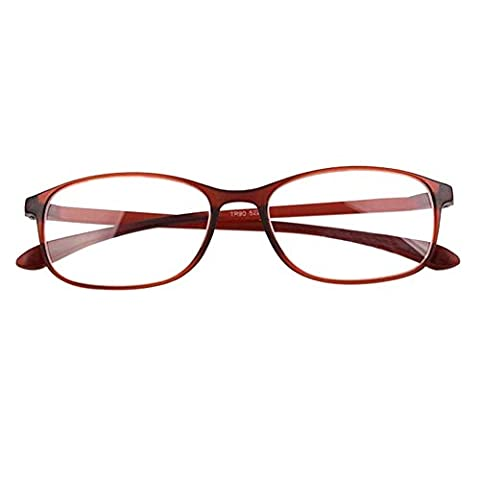Meijunter Lunettes de lecture Femme Homme Résine Vintage Carré des lunettes de lecture 1.0~4.0 Noir Marron