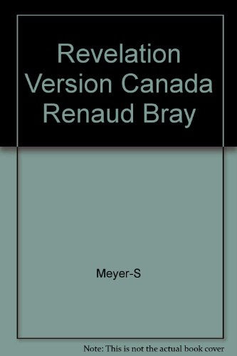 Revelation Version Canada Renaud Bray