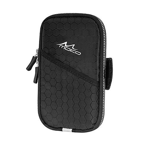 MoKo Brassard de Sport Universel, Résistant à l'eau, Anti-sueur, Sac pour les Smartphones moins de 6 pouces ,iPhone 7Plus, 6S Plus,7,6S,6, 5S, Samsung S7, S5, S4, Note5, J7 etc. Noir